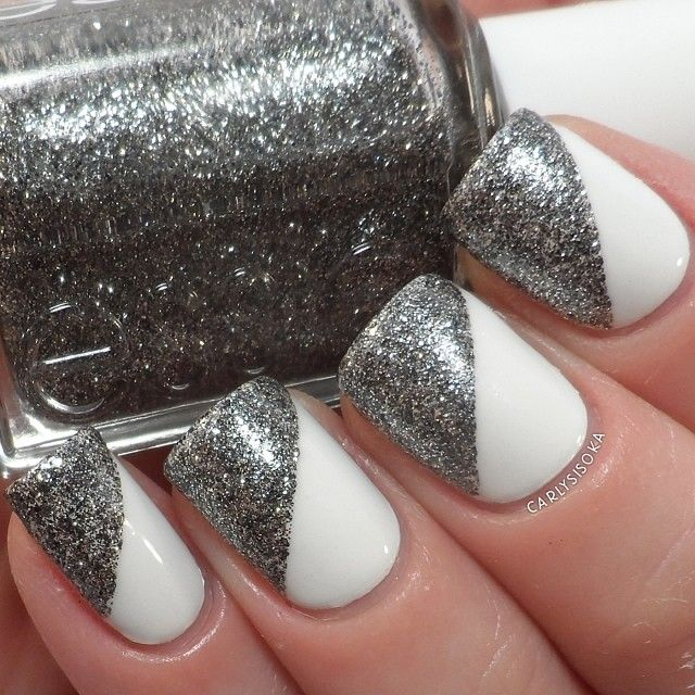 best 25 white and silver nails ideas on pinterest