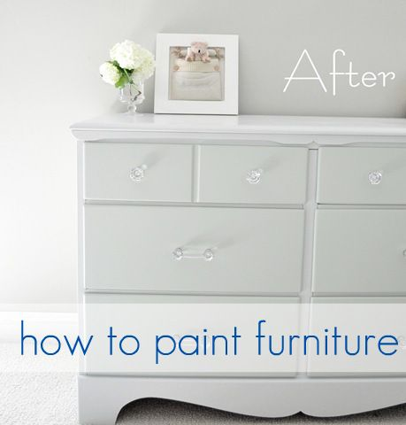 How to paint old furniture including when to sand and when it doesn't matter as much.