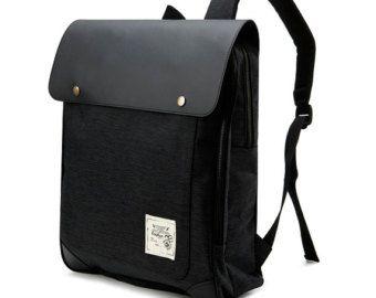Dos delanteros cremallera bolsillo mochila negro por BagDoRi