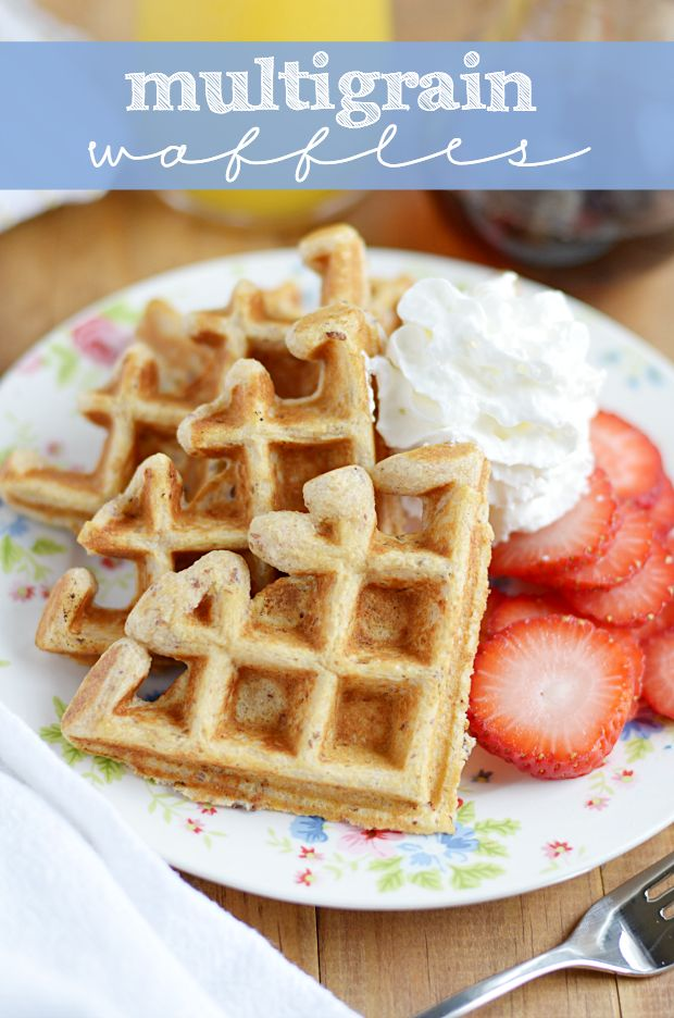 Multigrain Waffles Recipe — Dishmaps