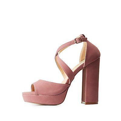 Pink Strappy Peep Toe Platform Sandals by Liliana - Size 6 .5