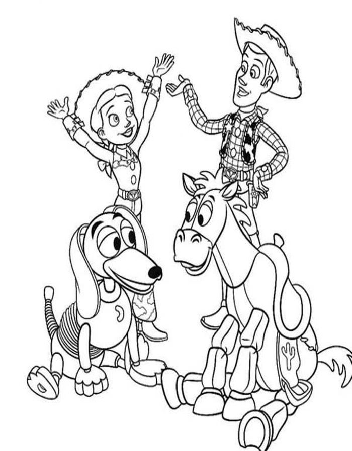 Toy Story Character Coloring Pages From Toy Story Coloring Pages