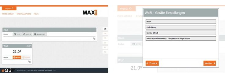 Max Software Heizung