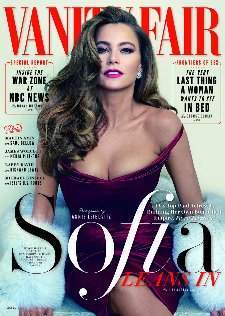 Sofia Vergara covers Vanity Fair's May 2015 issue wearing a sexy Zac Posen gown!