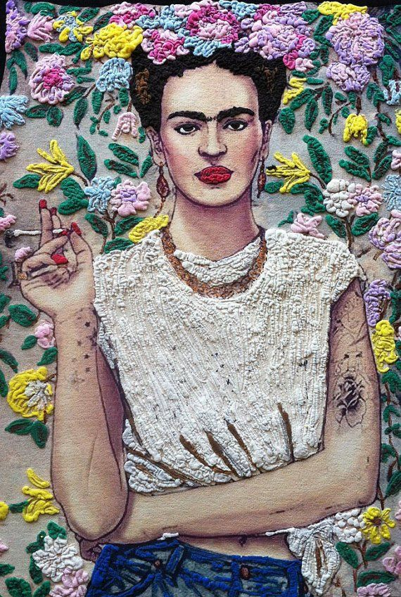 Frida Kahlo  T-shirt Art To Wear  Painting 3d camiseta pintada de Frida Fab Ceraolo Portrait