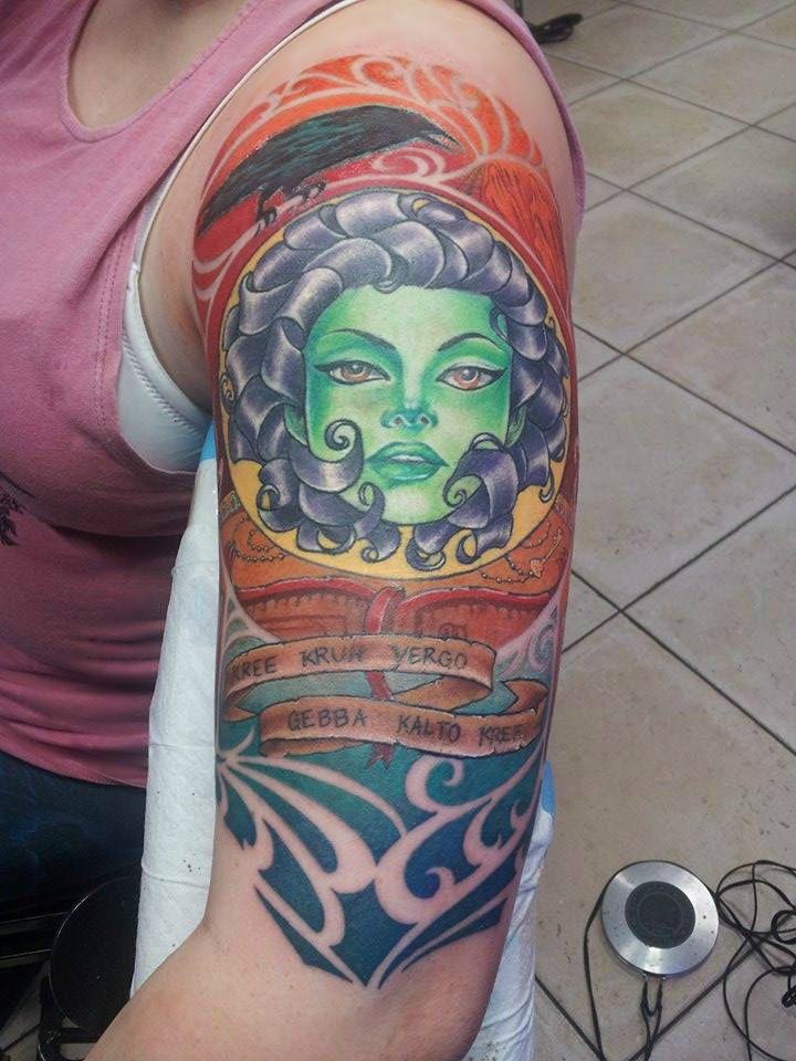 Madame Leota (The Haunted Mansion) tattoo done by Raul at Borderline Tattoos QLD Australia.