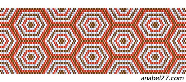 схема бисероплетения мозаика орнамент пейот браслет мозаичный