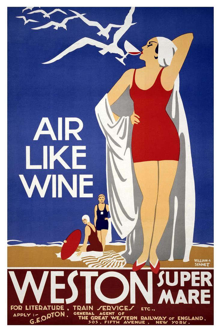 Bristol british travel posters vintage