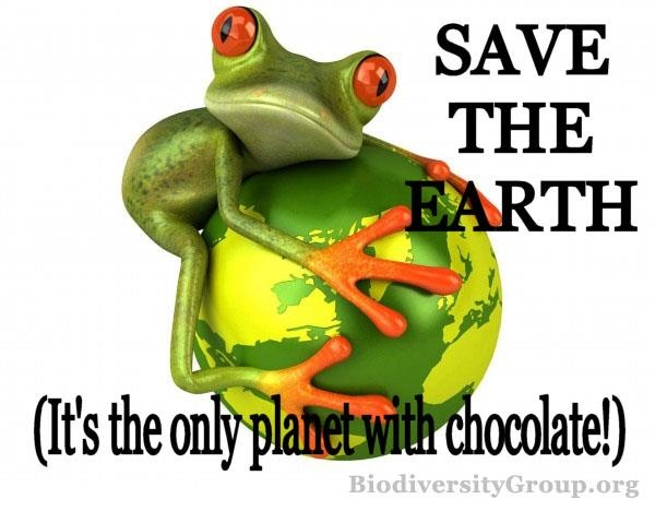 Funny Earth Day Meme : Save the earth it s only planet with chocolate