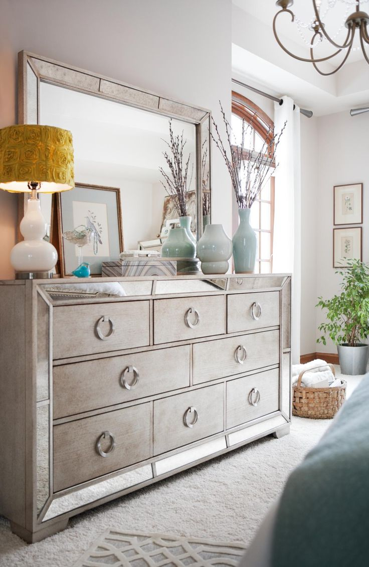 Angelina Dresser And Mirror Metallic In 2019 For The