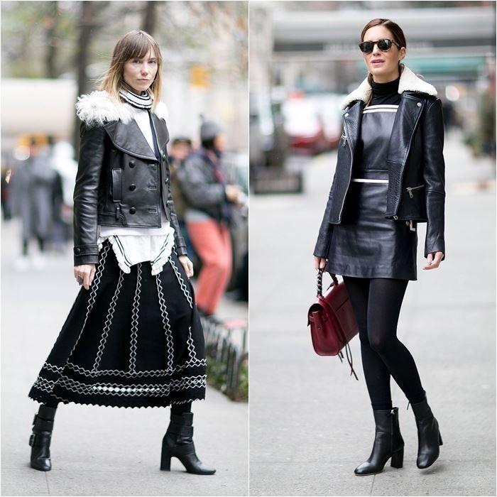 Уличный стиль Нью-Йорка на Неделе Моды осень-зима 2016-2017   BONAMODA