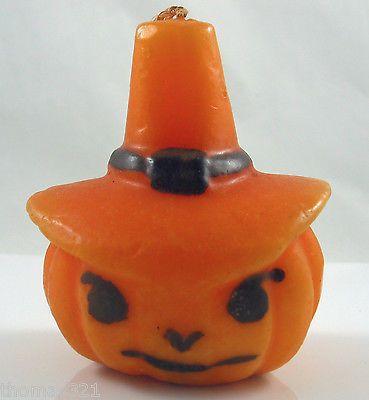 Vintage Halloween Jack Lantern Hat Candle USA Unusual Rare Emkay Penn Gurley