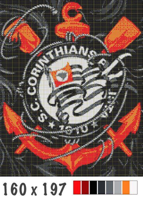 Bandeira taqueada do Corinthians | BLOG DE PIPAS