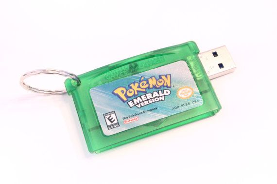 Pokemon Flash Drive Game Cartridge 8GB 16GB 32GB by TheGeekStudio, $40.00