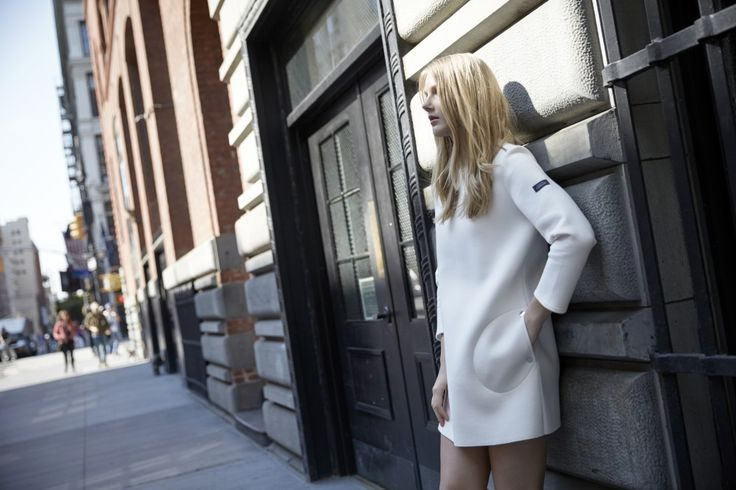 LOOKAST CHAPTER #5 - 2014 fall winter in New York _ White neoprene dress