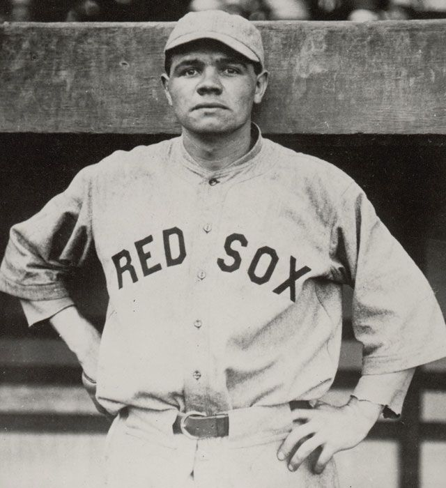 On this day in 1914, Babe Ruth made his major league debut as a member of the Red Sox. Ruth ended his 22-year career with 714 home runs, 2,217 RBIs and four World Series titles. (Corbis)  GALLERY: Classic Photos of Babe Ruth