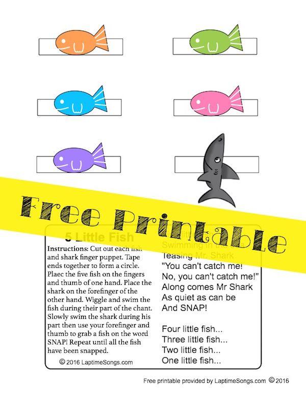 160 best nursery rhymes images on pinterest nursery for Fish songs for preschoolers