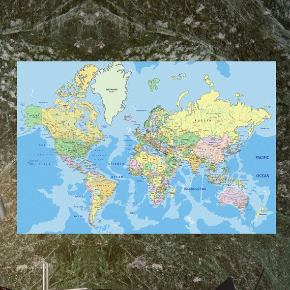 Best 25 Large world map poster ideas on Pinterest World map