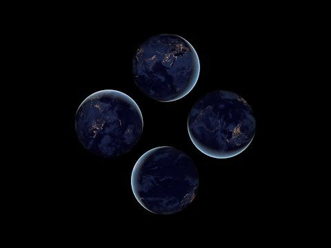 Earth view from space at night - Pyramid Hologram Screen Up - YouTube