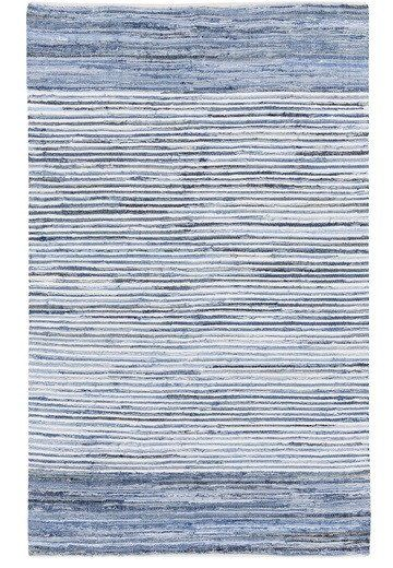 Seaside Denim Blue Rag Rug