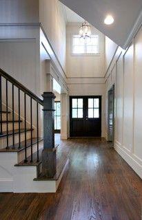 white & wood staircase
