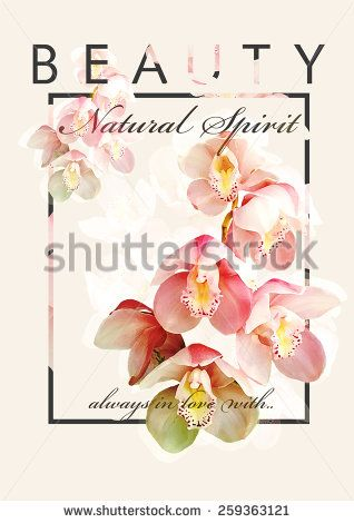 Floral t-shirt graphic with slogan for fashion and other uses.  - stock photo