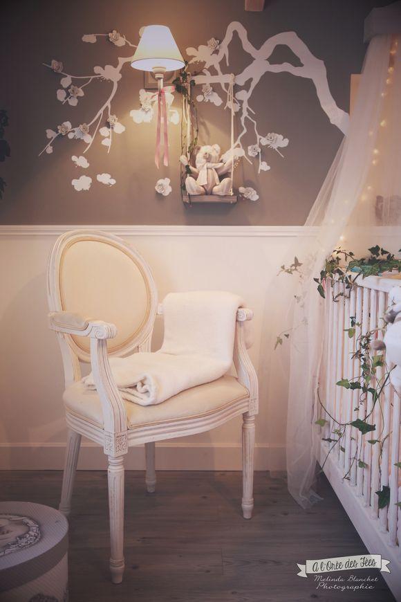 La chambre bébé de Louise I. - cute, baby room, chambre bébé, chambre fille, deco chambre bebe, romantique, baroque, poetique