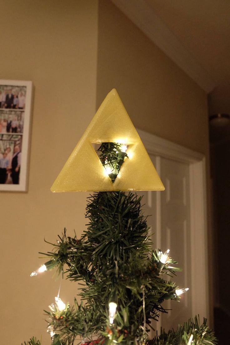 Triforce Christmas Tree Topper #zelda #legendofzelda #nintendo #christms #xmas #decorations #decoration #trifoece #merch #lmerchandise #christmastree