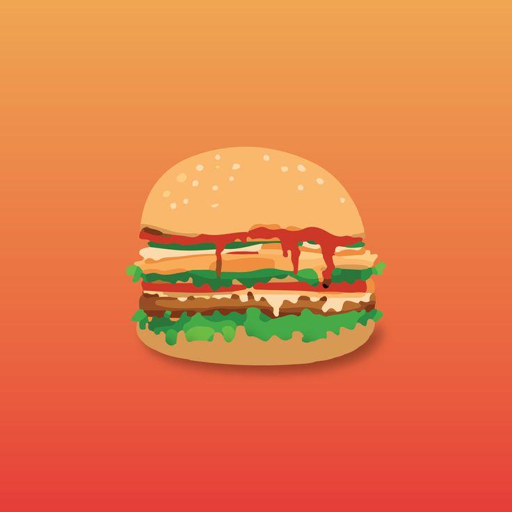An Amazing Vector Art of Burger