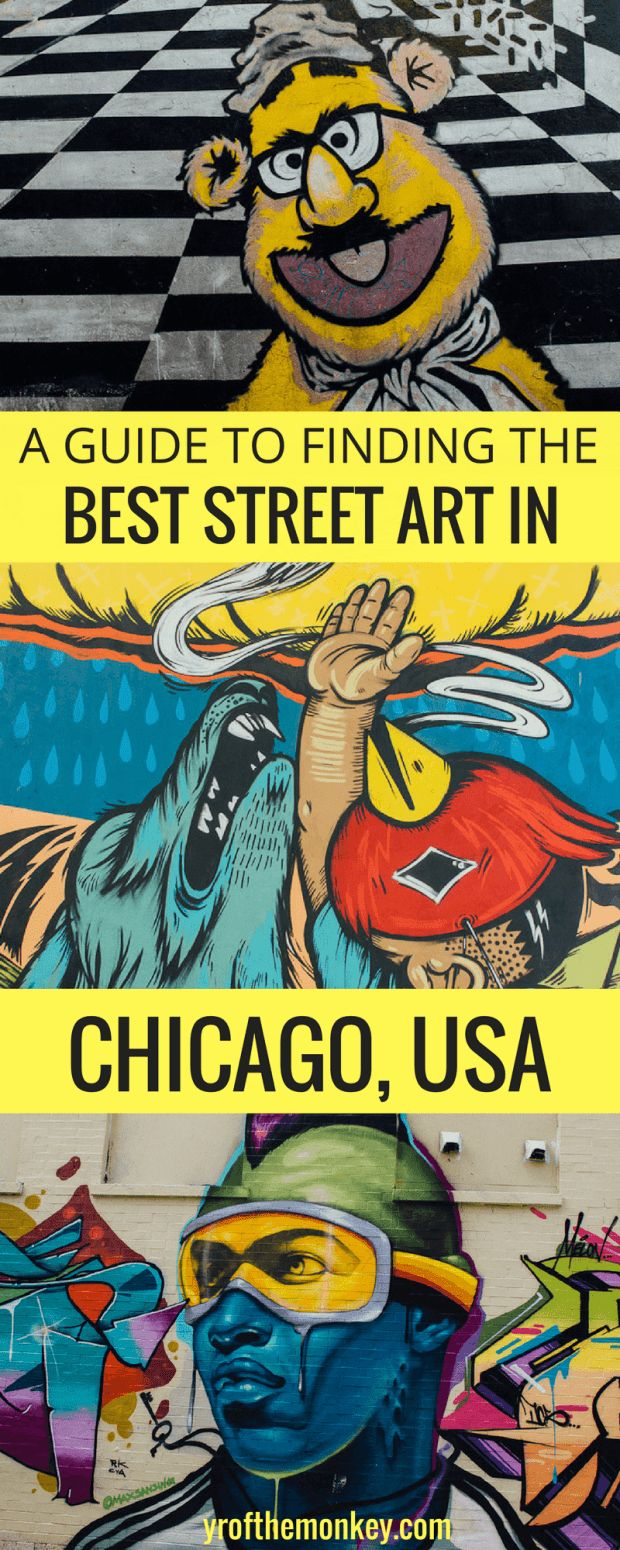 Chicago street art I Chicago USA travel I Murals of Chicago I Street artI Murals I Public art I Best neighborhoods in Chicago with the coolest murals I public art IWicker park murals I Pilsen murals I #chicago #USA #streetart #murals