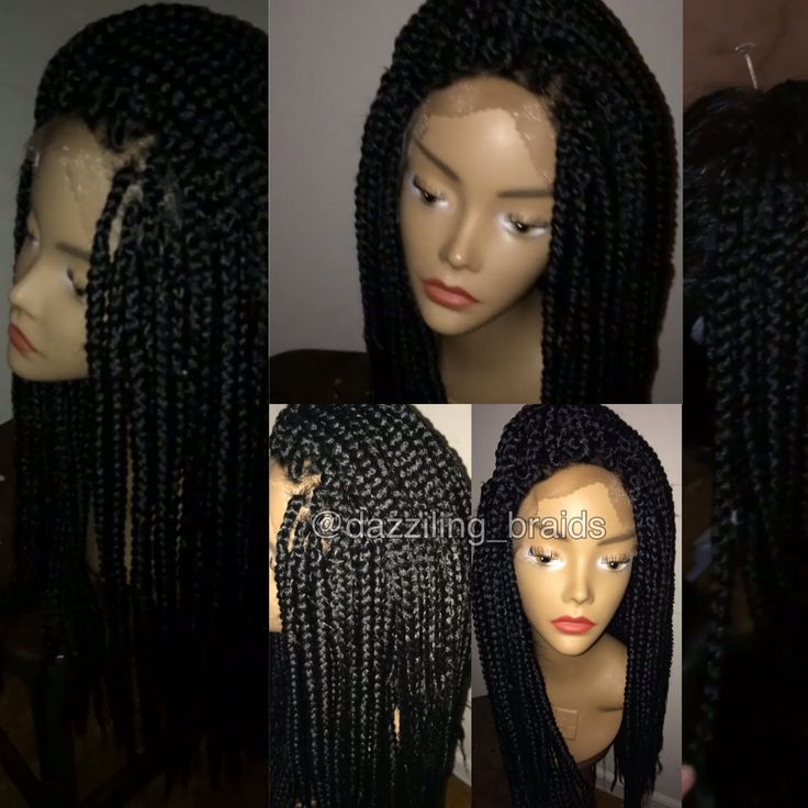 Lace Front Braid Wig Braided Lace Wigs Pinterest