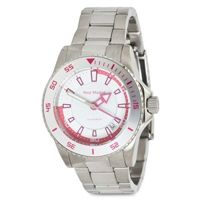 Image of Real Madrid Stainless Steel Watch - Junior - White/Pink