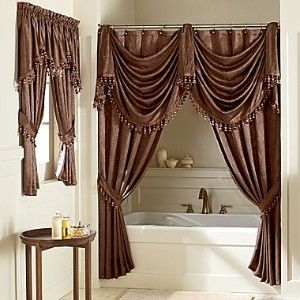Elegant Double Swag Shower Curtains Cool Shower Curtains
