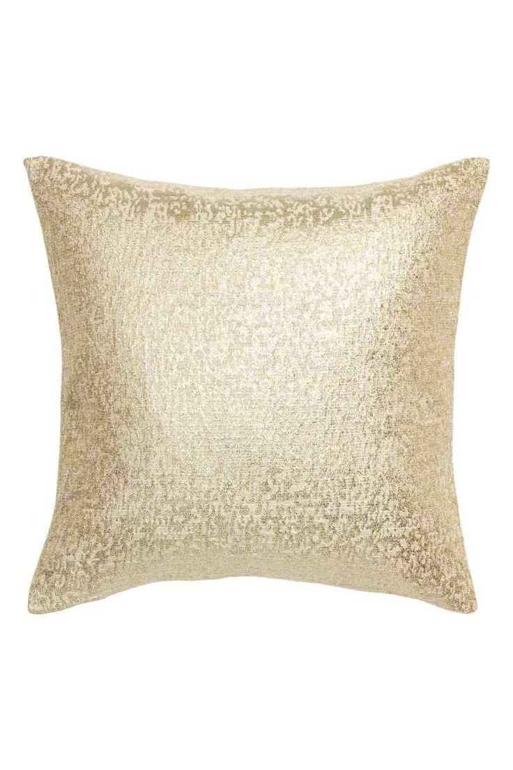 Glittery cushion cover - Gold - Home All | H&M GB