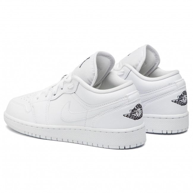 Pantofi Nike Air Jordan 1 Low Gs 553560 101 White Black White Jordan 1 White Air Jordans Nike Air Jordan