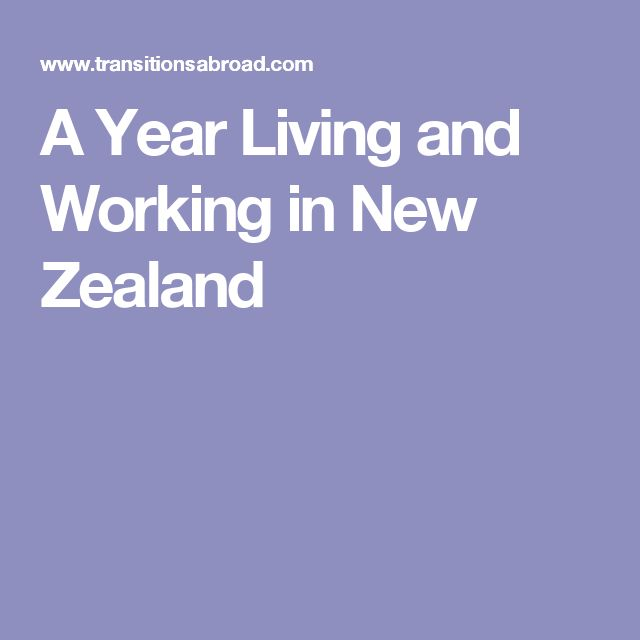A Year Living and Working in New Zealand