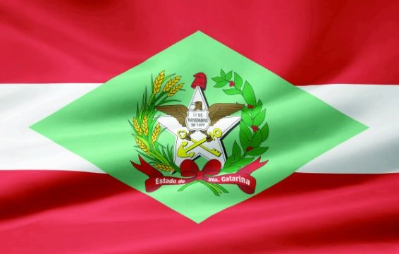 Os símbolos do estado de Santa Catarina (SC)