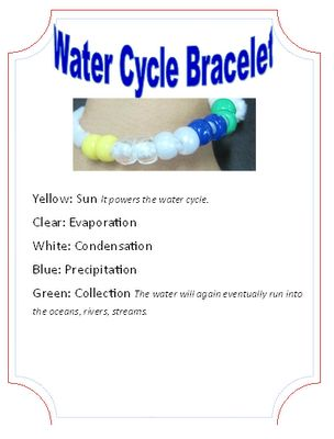 WOW  Classroom Magic: Science Camp Fun and Freebie - water cycle bracelet