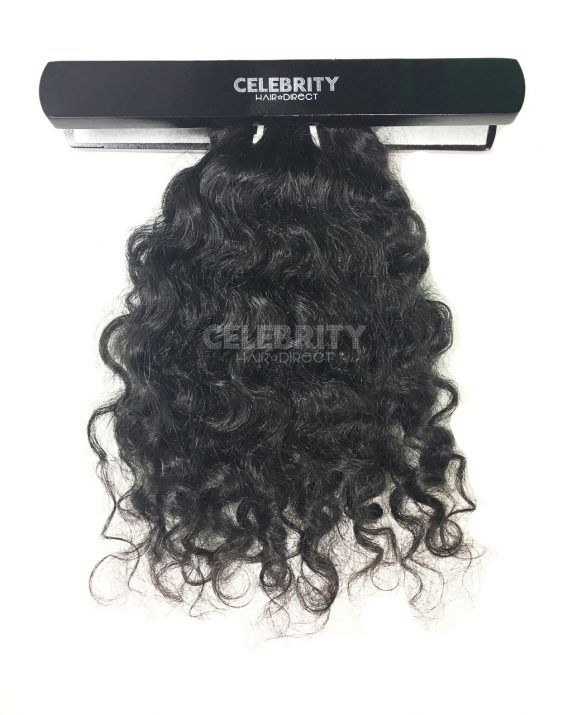100% Raw Indian Temple Curly Hair Extensions from Celebrity Hair Direct's A-List Collection