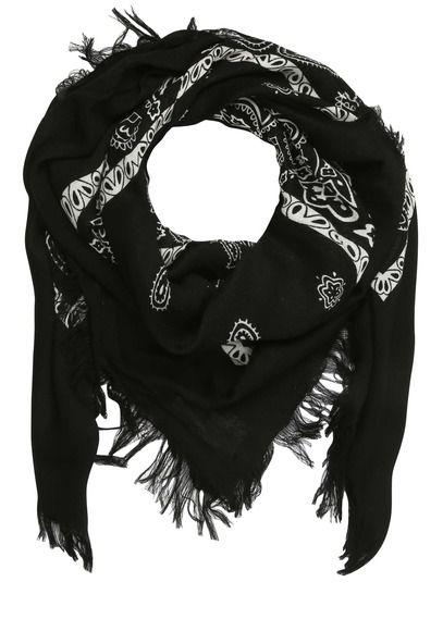 E-shop Foulard Franges Imprimé Bandana Noir Kookai pour femme sur Place des tendances Groupe Printemps. Retrouvez toute la collection Kookai pour femme.