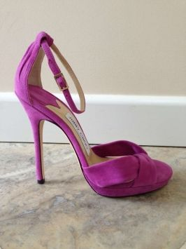 Jimmy Choo Jada Suede Heels Orchid/purple Sandals $429