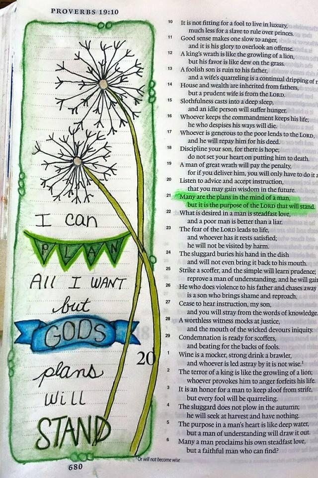 God's plans bible journaling