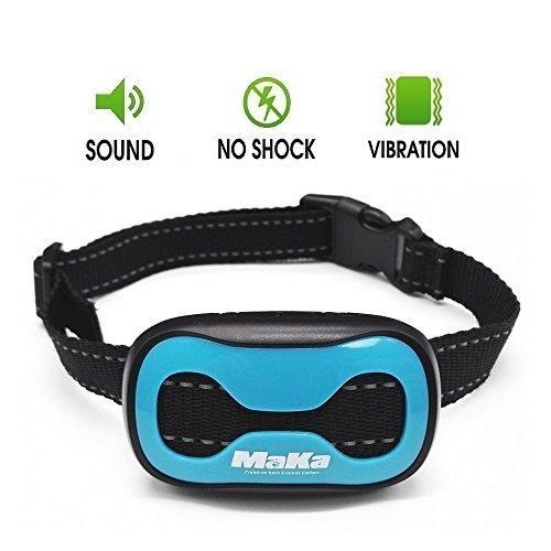 MaKa Dog Barking Control, Training Collar for Small & Medium Sized Dogs- Humane, Safe, No-Shock Anti-Bark Collar