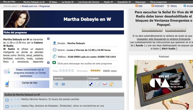 Programa de Radio Martha Debayle