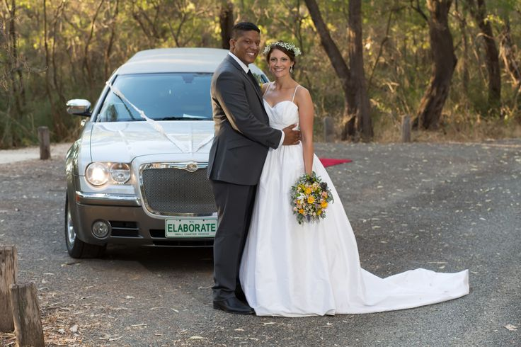 Gorgeous couple with our Two Tone Silver Chrysler Limousine. Bellagio Limousines. Limo Hire Perth 9240 6969. http://www.bellagiolimousines.com.au/