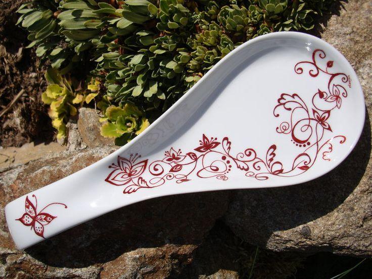 Les 25 meilleures id es de la cat gorie repose cuill re sur pinterest id es - Peindre sur verre 100 modeles originaux ...