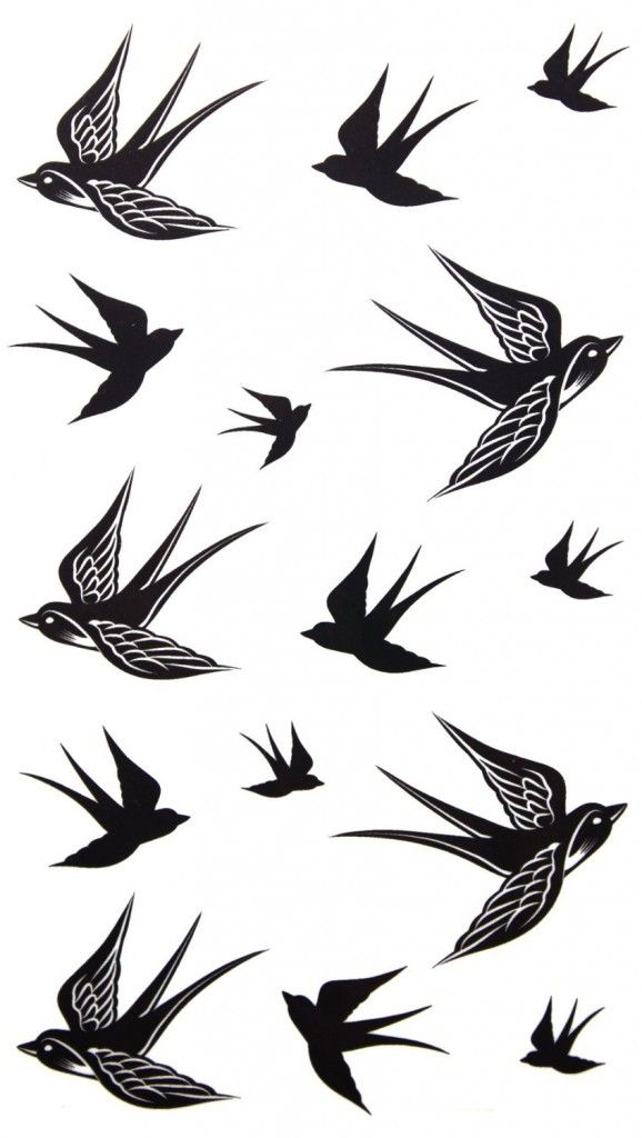 Temporary tattoo waterproof Swallow tattoo stickers - Hipster Jewelry Temporary Tattoos