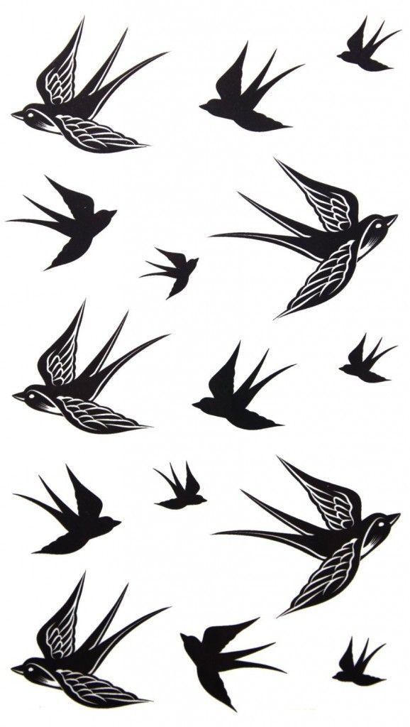 Temporary tattoo waterproof Swallow tattoo stickers - Hipster Jewelry Temporary Tattoos