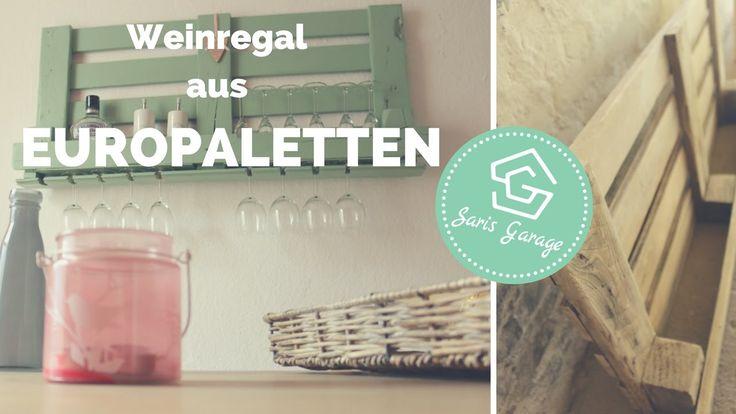 Weinregal aus Paletten   Palettenmöbel   DIY   Upcycling   How to   Wein...