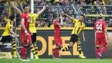 Fußball-Bundesliga, 23.Sptg: BVBschlägt Leverkusen 6:2